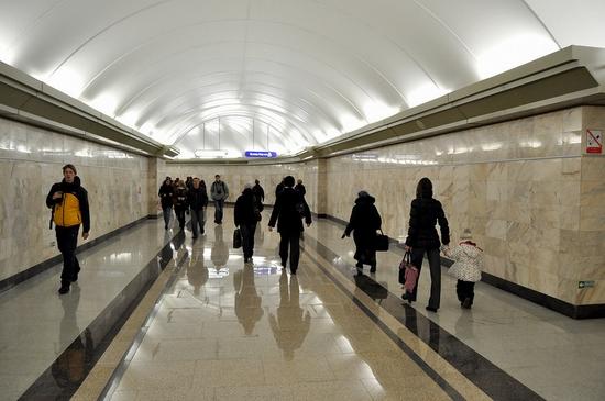 Admiralteyskaya metro station, Saint Petersburg, Russia view 7