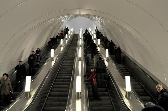 Admiralteyskaya metro station, Saint Petersburg, Russia view 8