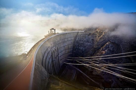 Chirkeyskaya hydropower plant, Russia view 1