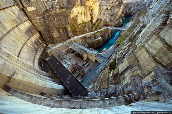 Chirkeyskaya hydropower plant, Russia view 12