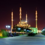 Grozny city at night time