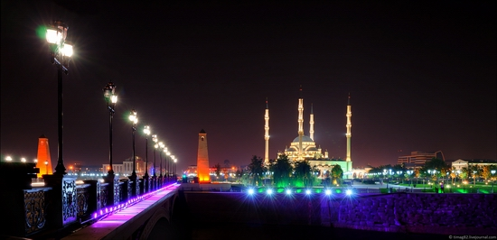 Grozny city at night time 10