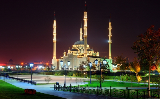 Grozny city at night time 11