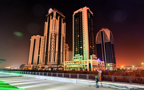 Grozny city at night time 12