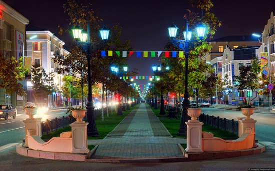 Grozny city at night time 14