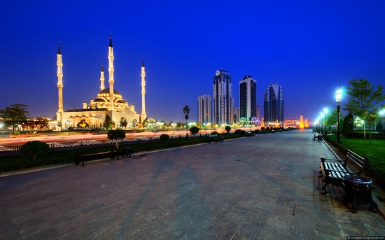Grozny city at night time 3