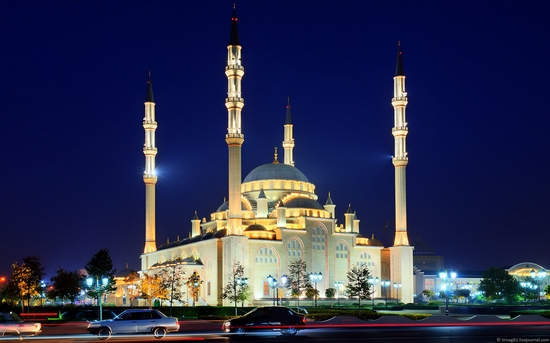 Grozny city at night time 4