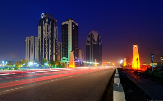 Grozny city at night time 5