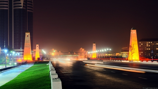 Grozny city at night time 7