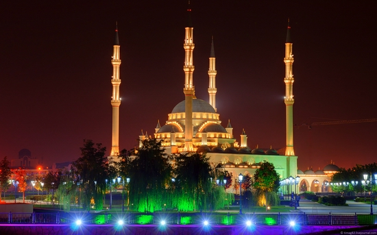 Grozny city at night time 9
