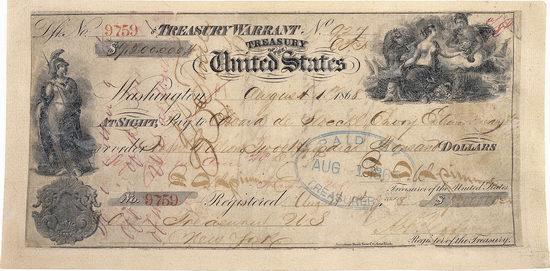 Purchase of Alaska - the check