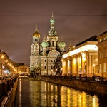 The day and night views of Saint Petersburg