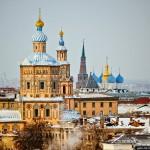 Winter Kazan from bird's eye view