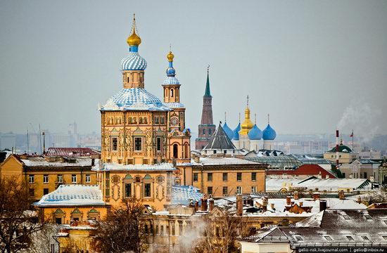 Winter Kazan city, Russia bird's eye view 1