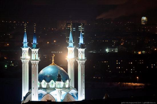 Winter Kazan city, Russia bird's eye view 13