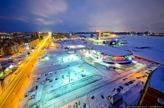 Winter Kazan city, Russia bird's eye view 14