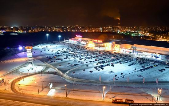 Winter Kazan city, Russia bird's eye view 15