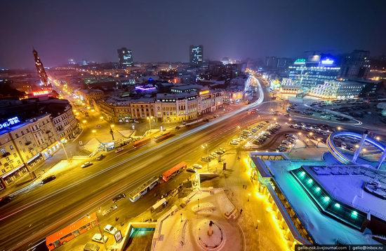 Winter Kazan city, Russia bird's eye view 17