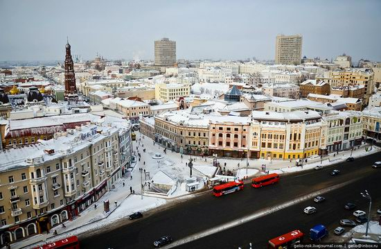 Winter Kazan city, Russia bird's eye view 2