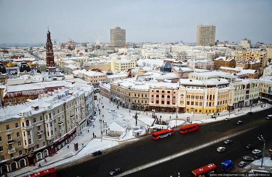 Winter Kazan city, Russia bird's eye view 2