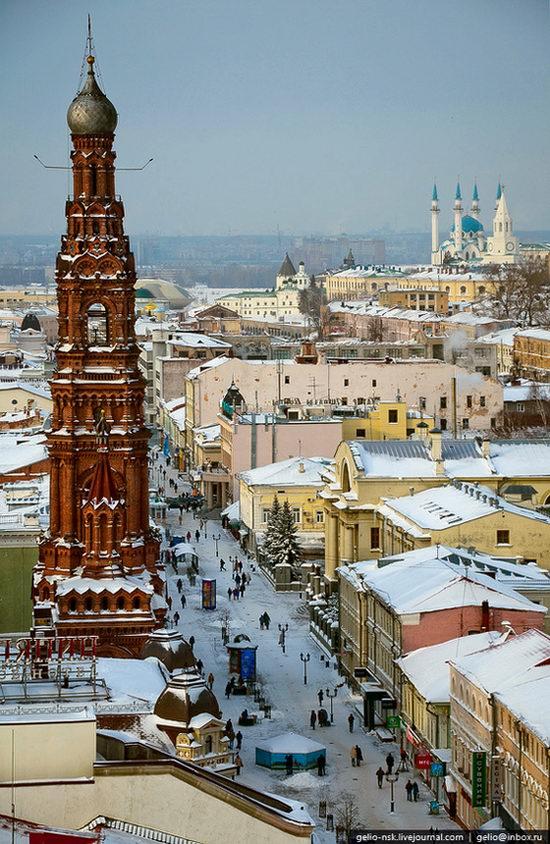 Winter Kazan city, Russia bird's eye view 3