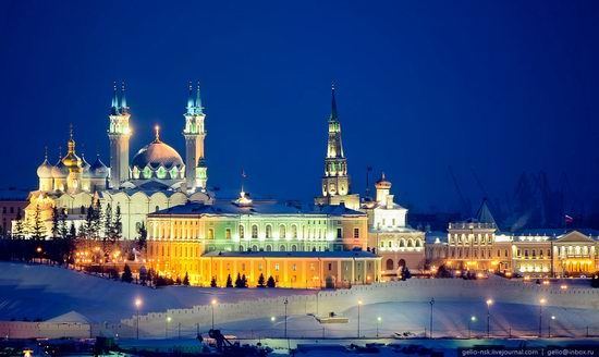 Winter Kazan city, Russia bird's eye view 5