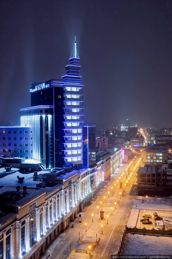 Winter Kazan city, Russia bird's eye view 6