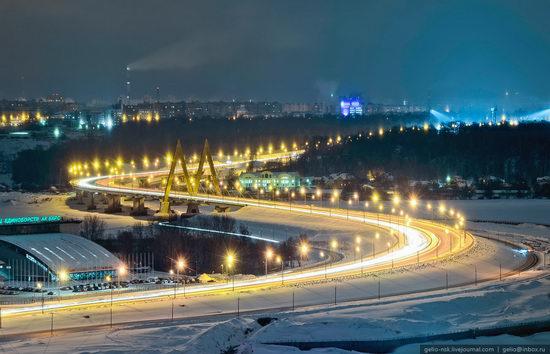 Winter Kazan city, Russia bird's eye view 7