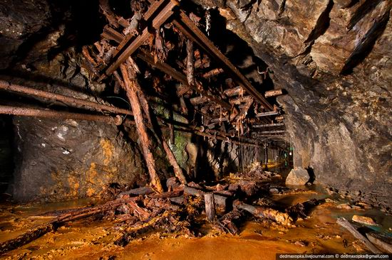 Abandoned mine suspended for years somewhere in Russia view 1