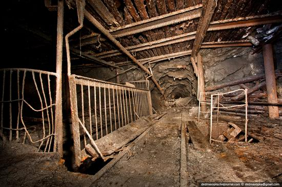 Abandoned mine suspended for years somewhere in Russia view 11