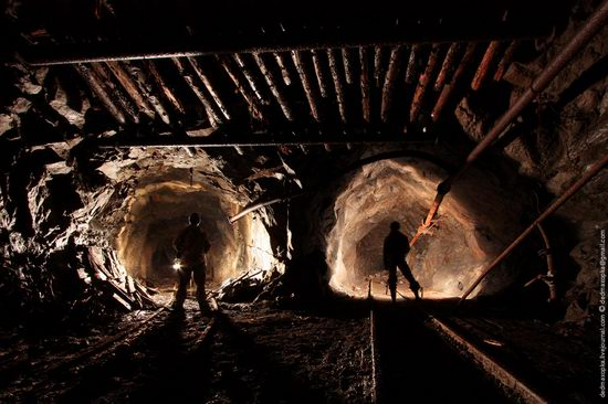 Abandoned mine suspended for years somewhere in Russia view 13