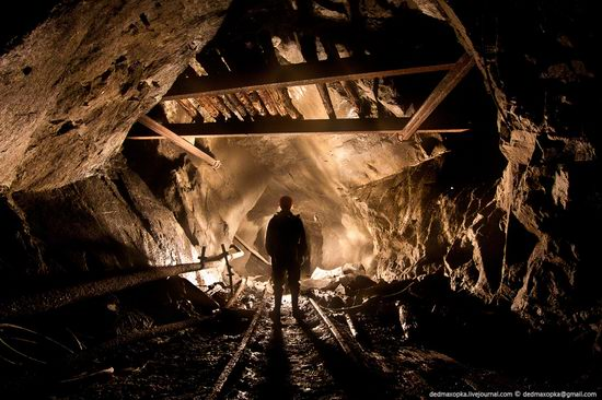 Abandoned mine suspended for years somewhere in Russia view 20