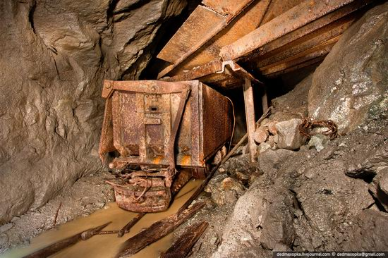 Abandoned mine suspended for years somewhere in Russia view 21