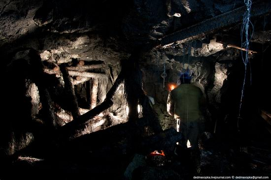 Abandoned mine suspended for years somewhere in Russia view 8