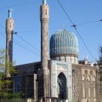 Beautiful mosaic of main mosque of St. Petersburg