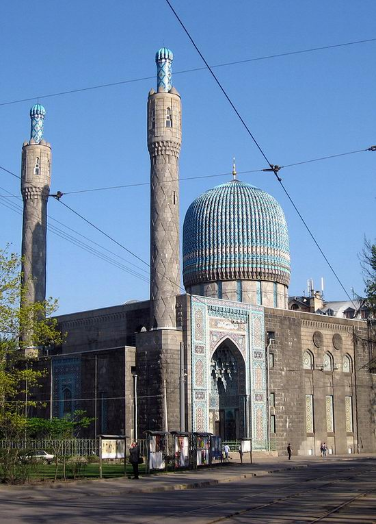 Beautiful mosaic of mosque in Saint Petersburg, Russia view 1