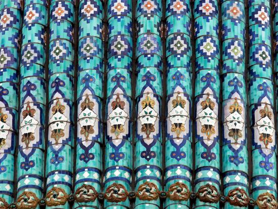 Beautiful mosaic of mosque in Saint Petersburg, Russia view 11