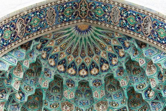 Beautiful mosaic of mosque in Saint Petersburg, Russia view 6