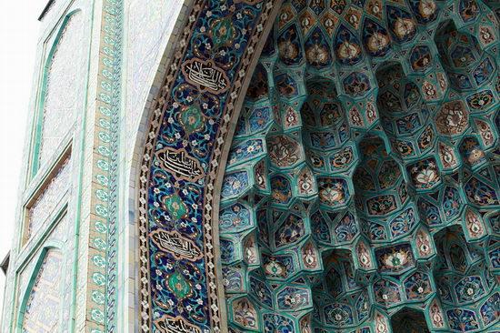 Beautiful mosaic of mosque in Saint Petersburg, Russia view 9