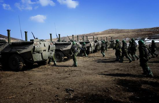 Military exercises of Marine corps of Pacific fleet, Russia view 10