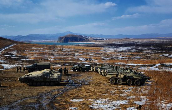 Military exercises of Marine corps of Pacific fleet, Russia view 11