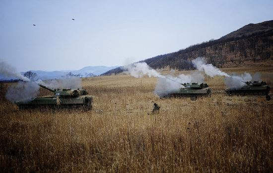 Military exercises of Marine corps of Pacific fleet, Russia view 24
