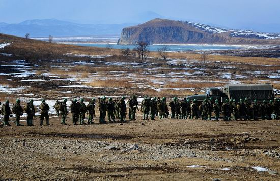 Military exercises of Marine corps of Pacific fleet, Russia view 8