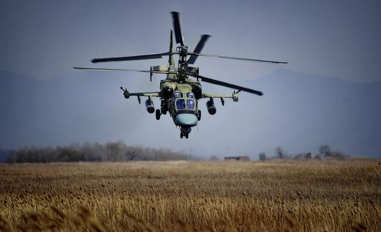 New Russian combat helicopters flights view 1