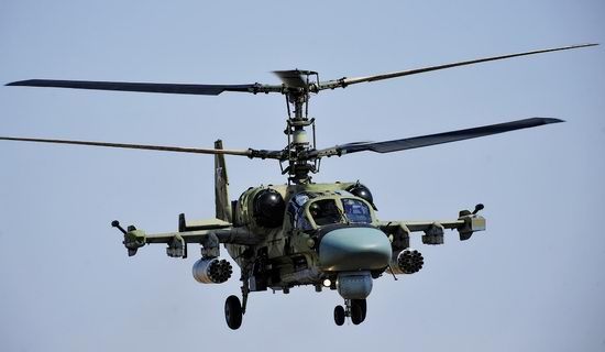 New Russian combat helicopters flights view 12