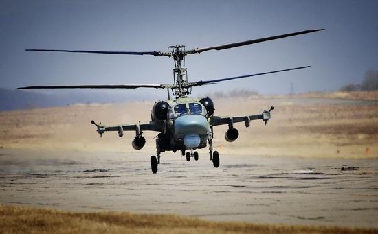 New Russian combat helicopters flights view 13