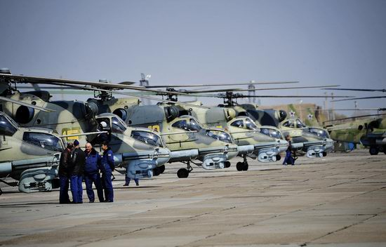 New Russian combat helicopters flights view 19