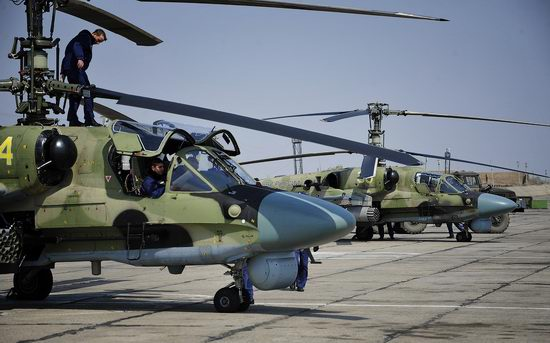 New Russian combat helicopters flights view 2