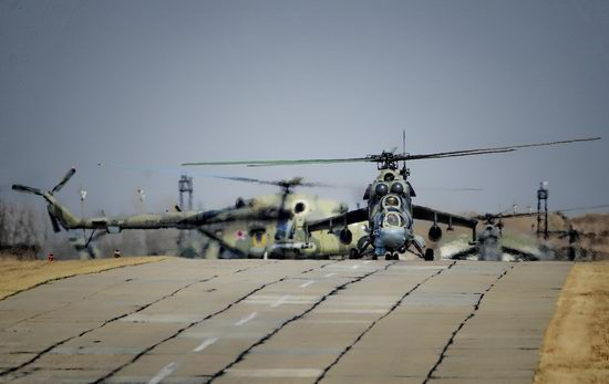 New Russian combat helicopters flights view 20