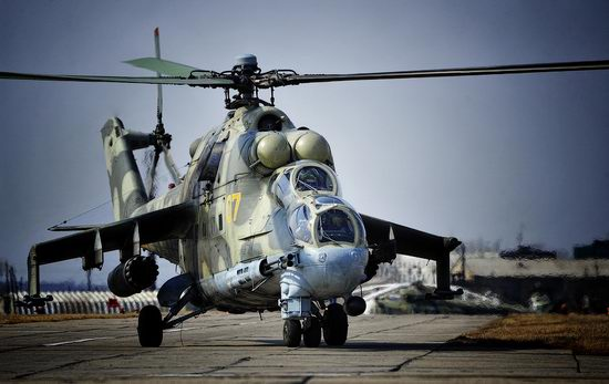 New Russian combat helicopters flights view 21